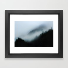 Foggy British Columbia Framed Art Print