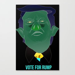 "Vote For Rump ""Trump the Pig"" Canvas Print"
