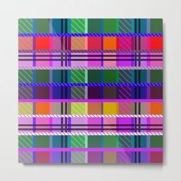 Multicolor tartan Metal Print