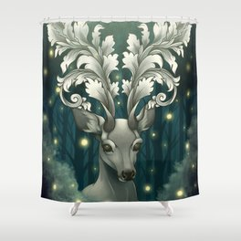 Antlers of Filigree Shower Curtain