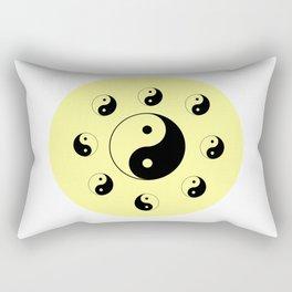 Yin and Yang 12 - Tao,Zen,Taoism,Dao,Harmony,religion,buddhism,buddhist,taijitu,taiji,taoist,china Rectangular Pillow