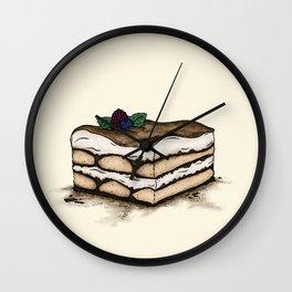 T is for Tiramisu Wall Clock