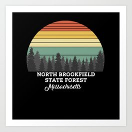 North Brookfield State Forest Massachusetts Art Print