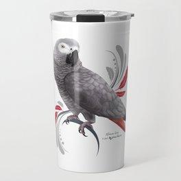 African Grey Parrot Travel Mug