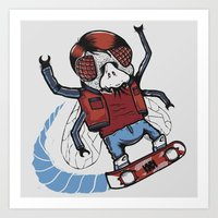 mcfly Art Prints featuring Marty McFLY by Timo Ambo