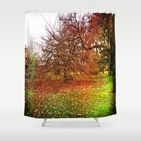 uk Shower Curtains featuring Uk Fairy - Forest by Created by Eleni