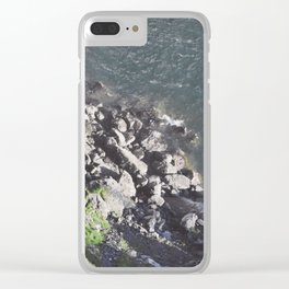 Rocky Riverbed Clear iPhone Case