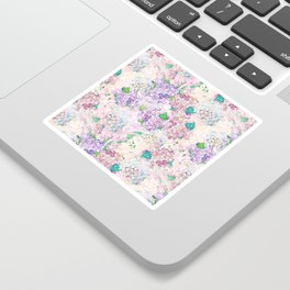Pastel Purple and blue Lilac & Hydrangea - Flower Design Sticker