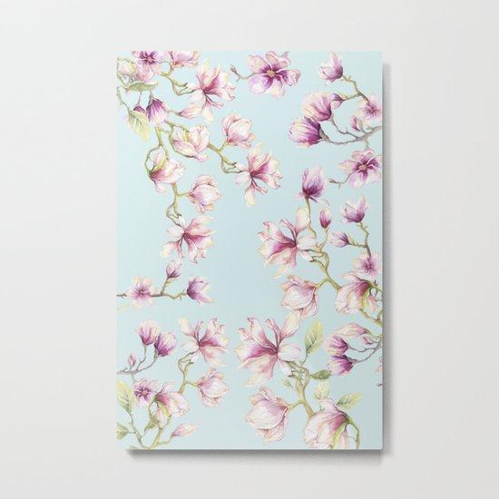 Delicate Magnolia Metal Print