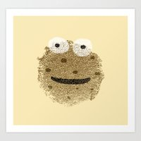 cookie monster Art Prints featuring Cookie Monster by Sarinya  Withaya