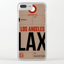 LAX Los Angeles Luggage Tag 1 Clear iPhone Case
