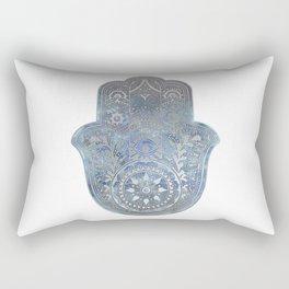 Silver Blues Hamsa Hand Rectangular Pillow