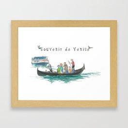 "Venice ""Tragheto"" Framed Art Print"