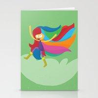 musa Stationery Cards featuring Musa by Juliana Rojas   Puchu