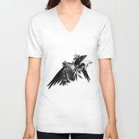 renaissance V-neck T-shirts featuring Renaissance Noir I by Olivia Cho