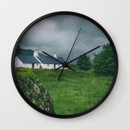 Cottage by the Mountains Wall Clock
