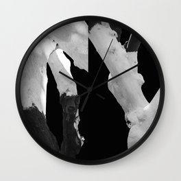 Perspective of Two Trees Wall Clock