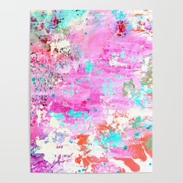 Abstract printed phone case Poster