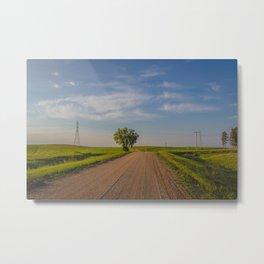 Country Road, North Dakota 8 Metal Print