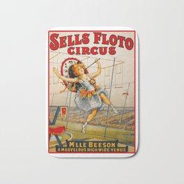 Vintage Sells Floto Circus Ad Bath Mat