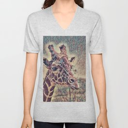 Impressive Animal - Giraffe Unisex V-Neck