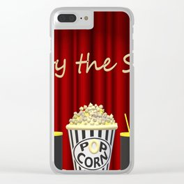 Movie Time! Clear iPhone Case