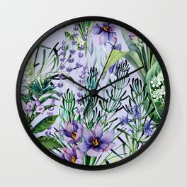 Watrolor hebs Wall Clock