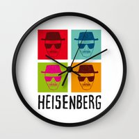 popart Wall Clocks featuring Heisenberg Popart by Nxolab