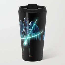 Luc Ready for Battle (Black/Dark Background) Travel Mug
