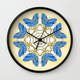 Heavenly Bees Wall Clock