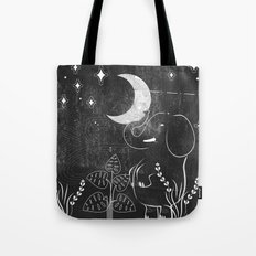 Elephant and Moon Tote Bag