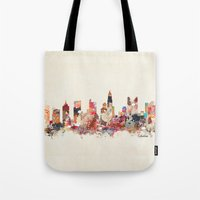 ohio Tote Bags featuring columbus ohio by bri.buckley