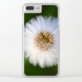 Softness Dandelion Clear iPhone Case