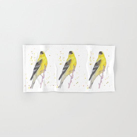 Yellow Bird Hand & Bath Towel