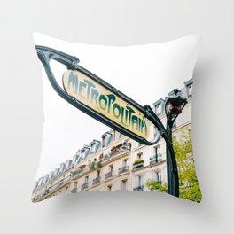 Paris Metro III Throw Pillow