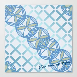 flower of life - twill  Canvas Print
