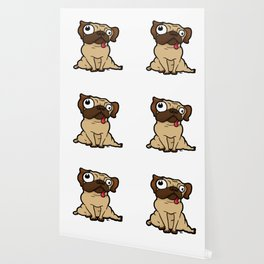 Dopey Pug Wallpaper
