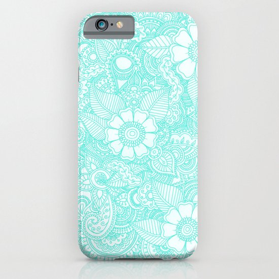 Henna Design - Aqua iPhone & iPod Case