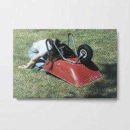 Wheelbarrow I Metal Print
