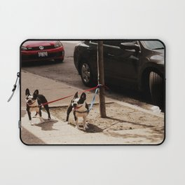 Boston Terriers ~ amped up for action! Laptop Sleeve