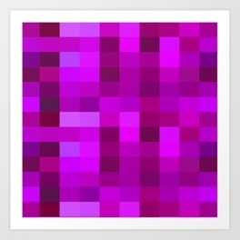 Purple Mosaic Art Print