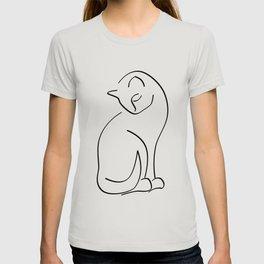 Cat Line Art (Lights) T-shirt