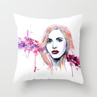 lydia martin Throw Pillows featuring Lydia Martin by Sterekism
