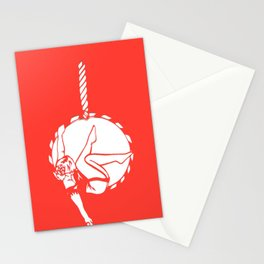 Circus Girl on an Aerial Hoop Stationery Cards