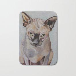 Artwork, animal, oilpainting. Sphynx. Cat Bath Mat
