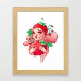 Strawberry Sweetie Framed Art Print