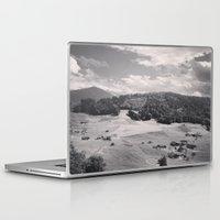 switzerland Laptop & iPad Skins featuring Switzerland BW by Heather Hartley