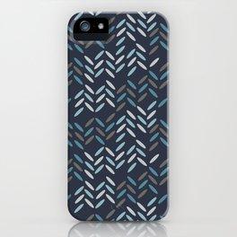 Knit pattern iPhone Case