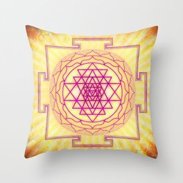 Sri Yantra XII Throw Pillow
