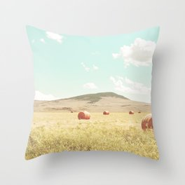 A Day in the Fields Throw Pillow
